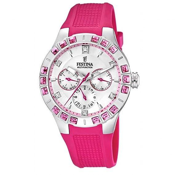 Festina - Reloj de pulsera analógico para mujer cuarzo silicona F16559/3: Festina: Amazon.es: Relojes
