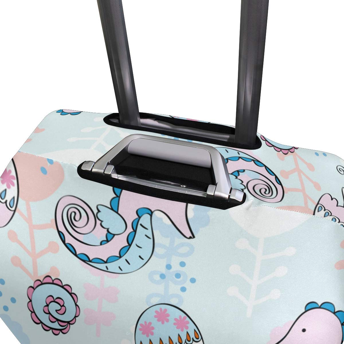 Baggage Covers Simple Paint Dolphin Jellyfish Sea Horse Washable Protective Case