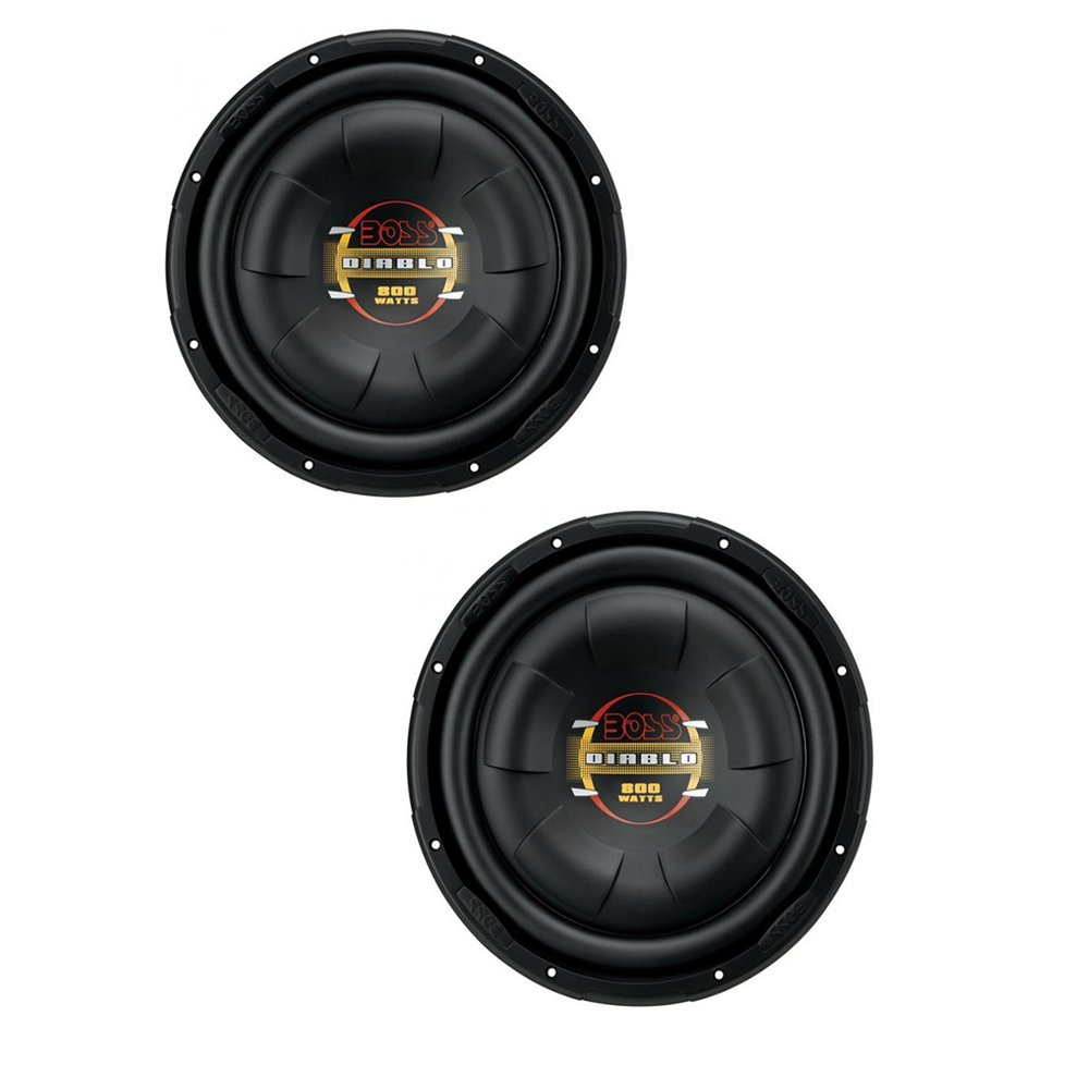 2 Boss D10f 10 1600w Shallow Slim Car Audio Subwoofers Kit2 8 Gauge Complete Amplifier Wiring Kit Pair Vminnovations Power Subs Woofers Flat Electronics