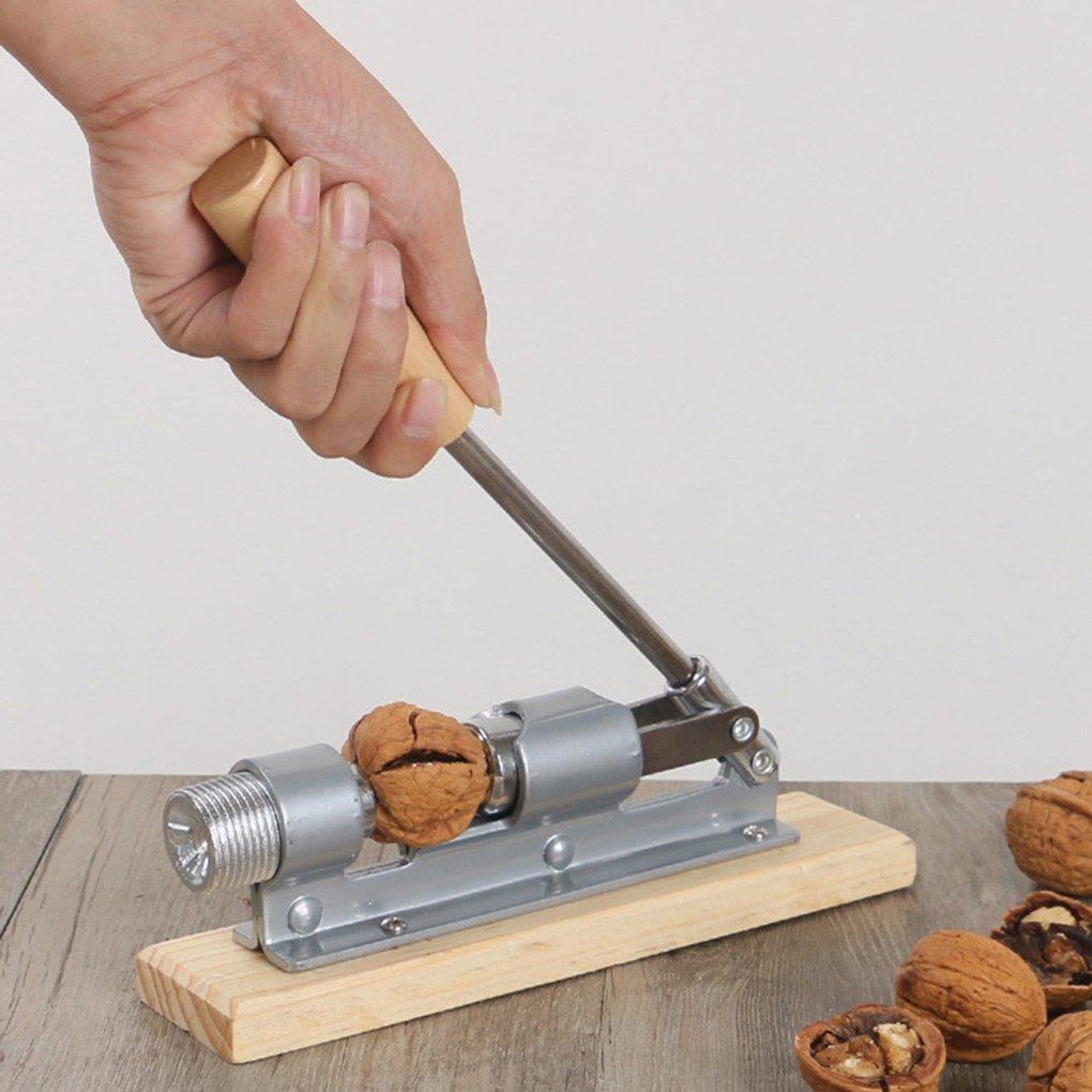 Floridivy Mechanische Nut Cracker Edelstahl Nussknacker Multi-Function Sheller Pekann/üsse Cracker Metall-/Öffner-Werkzeug Tragbare