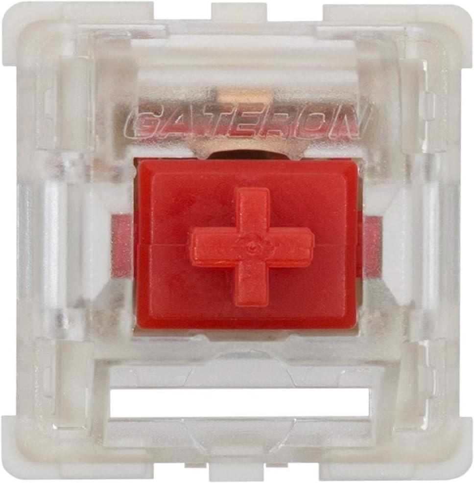 reemplazo 65 keyswitchs red Gateron KS-9 teclado mecanico