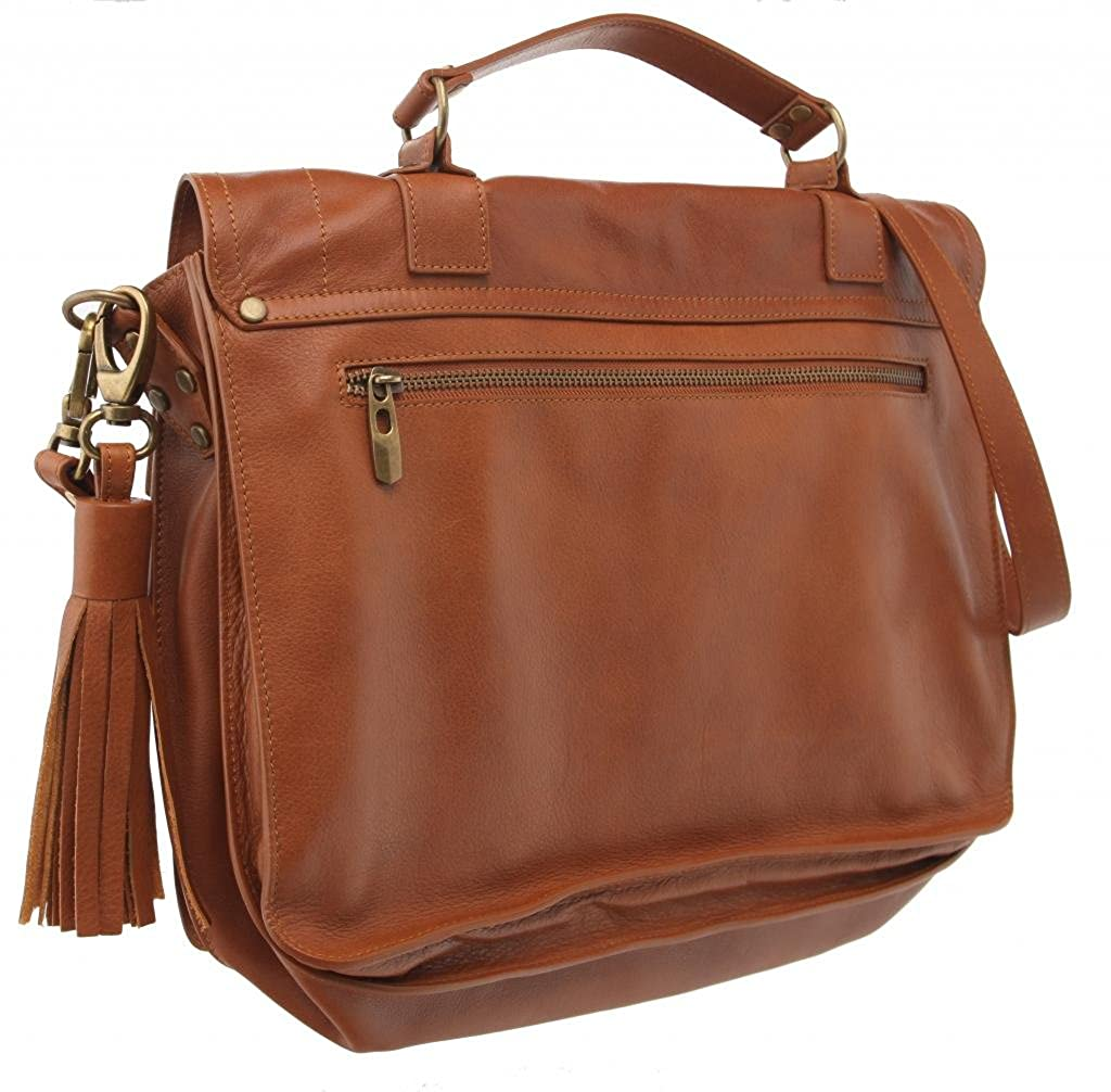 Y Tadaaki Monica Italian Leather Messenger Bag