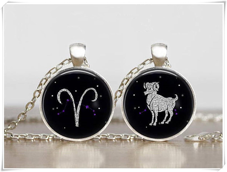 Aries colgante, Galaxy colgante, constelación, Zodiac joyas