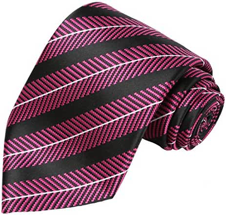 KissTies Mens Extra Long Tie Striped Pattern Necktie + Gift Box (63'' XL)