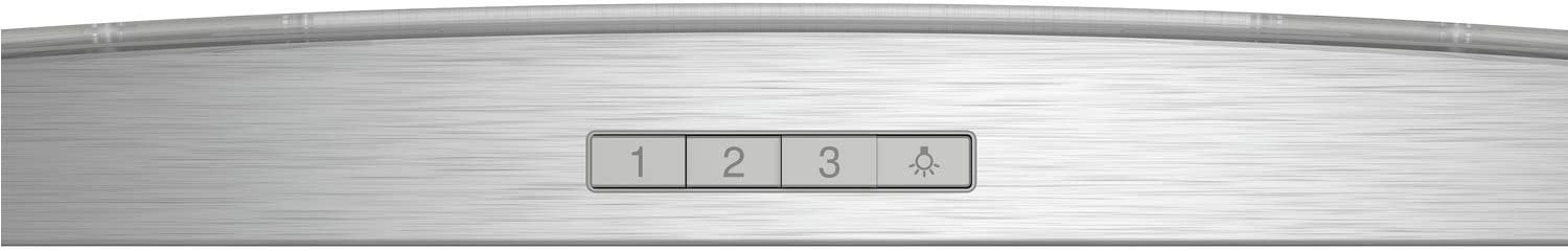Neff D64ABC0N0B 60cm Chimney Cooker Hood with Curved Glass Canopy Stainless Steel