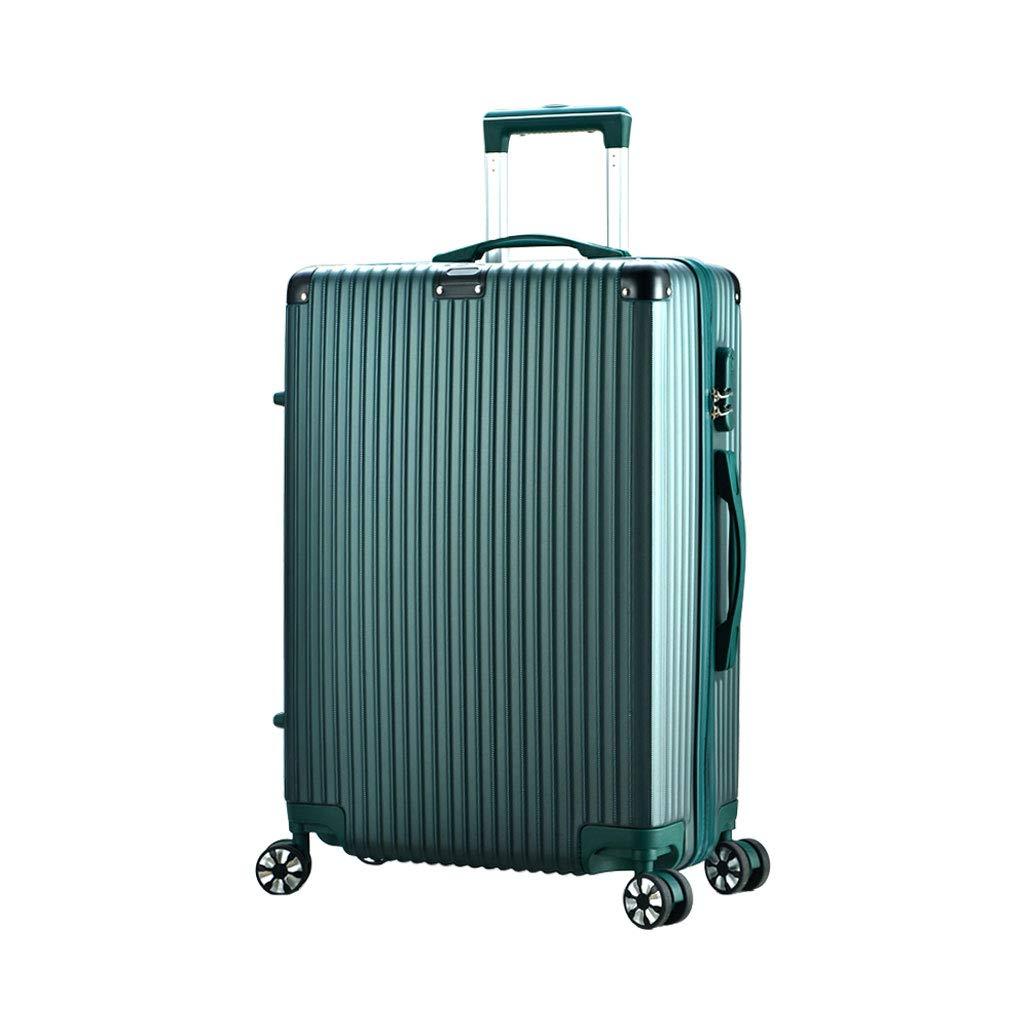 軽量Absハードシェルトラベルキャリーハンド荷物スーツケース4キャリー付き、Ryanair、Easyjet、ブリティッシュエアウェイズ、ヴァージンアトランティック、Flybeなどその他(ダークグリーン) B07MM55ZK7  42*25*63cm