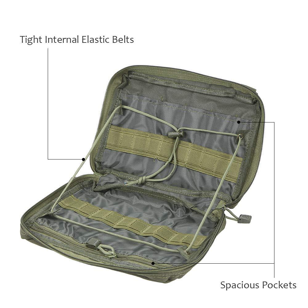Irfora Bolso Bolsa de Almacenamiento Kit de Primeros Auxilios Paquete m/édico Bolsa T/áctica Bolsa de Viaje para Acampar Cazar Senderismo Herramienta al Aire Libre