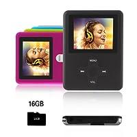 Btopllc Lettore MP3,lettore MP4 16GB,lettore musicale MP3 portatile,lettore di musica digitale MP3/MP4 Player classico ricaricabile/lettore multimediale/lettore audio/lettore multimediale - nero