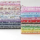 "84 pcs/lot 9.8""x9.8"" No Repeat Design Printed Floral Cotton Patchwork Fabric"