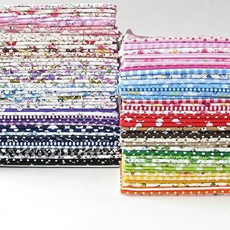 84 unidades 25 cm * 25 cm Top Tela de Algodón Paquete Patchwork DIY Costura Scrapbooking Acolchar Patrón Floral Artcraf
