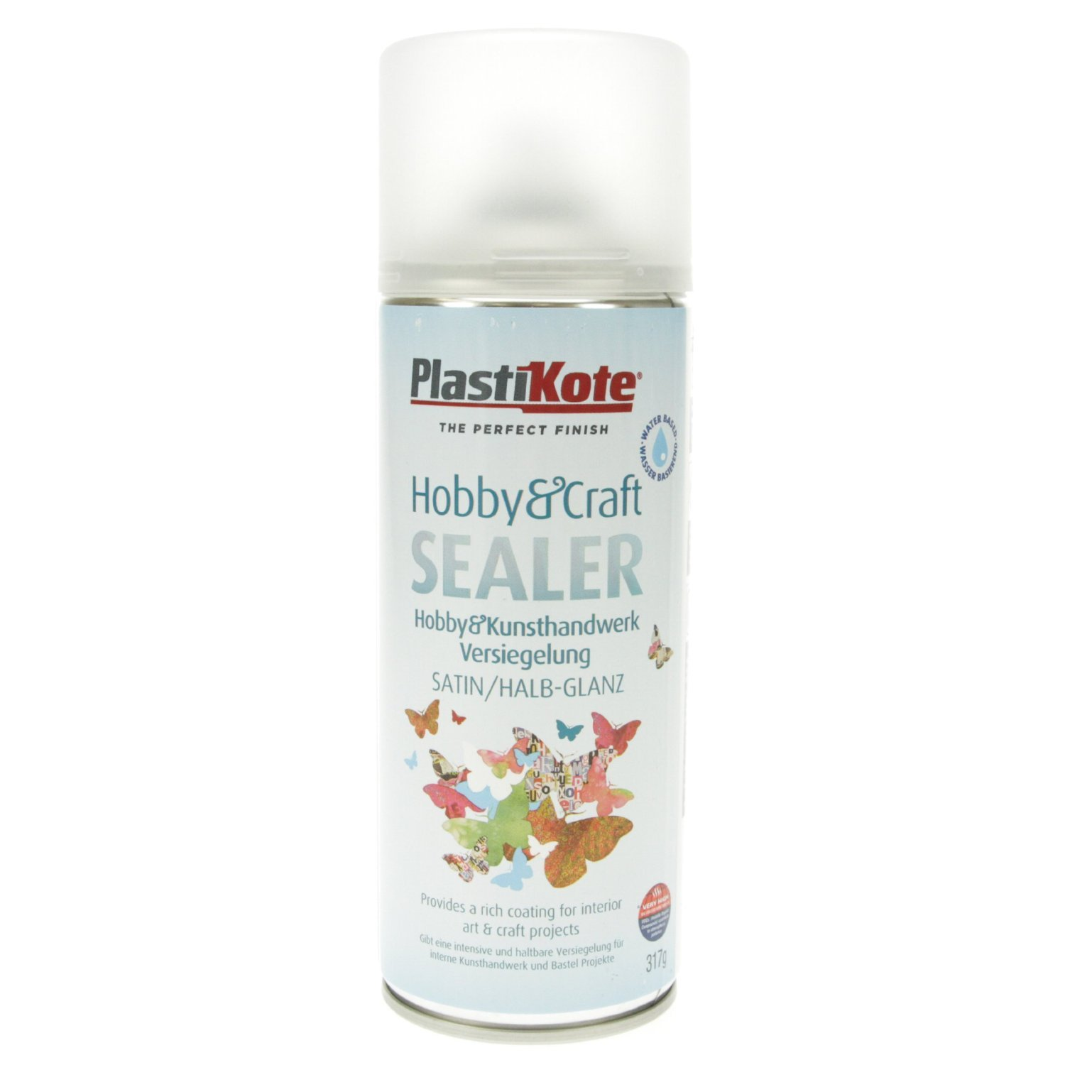 Plastikote 4143 400 ml Hobby Twist Matt Craft Sealer - Clear PKC4003