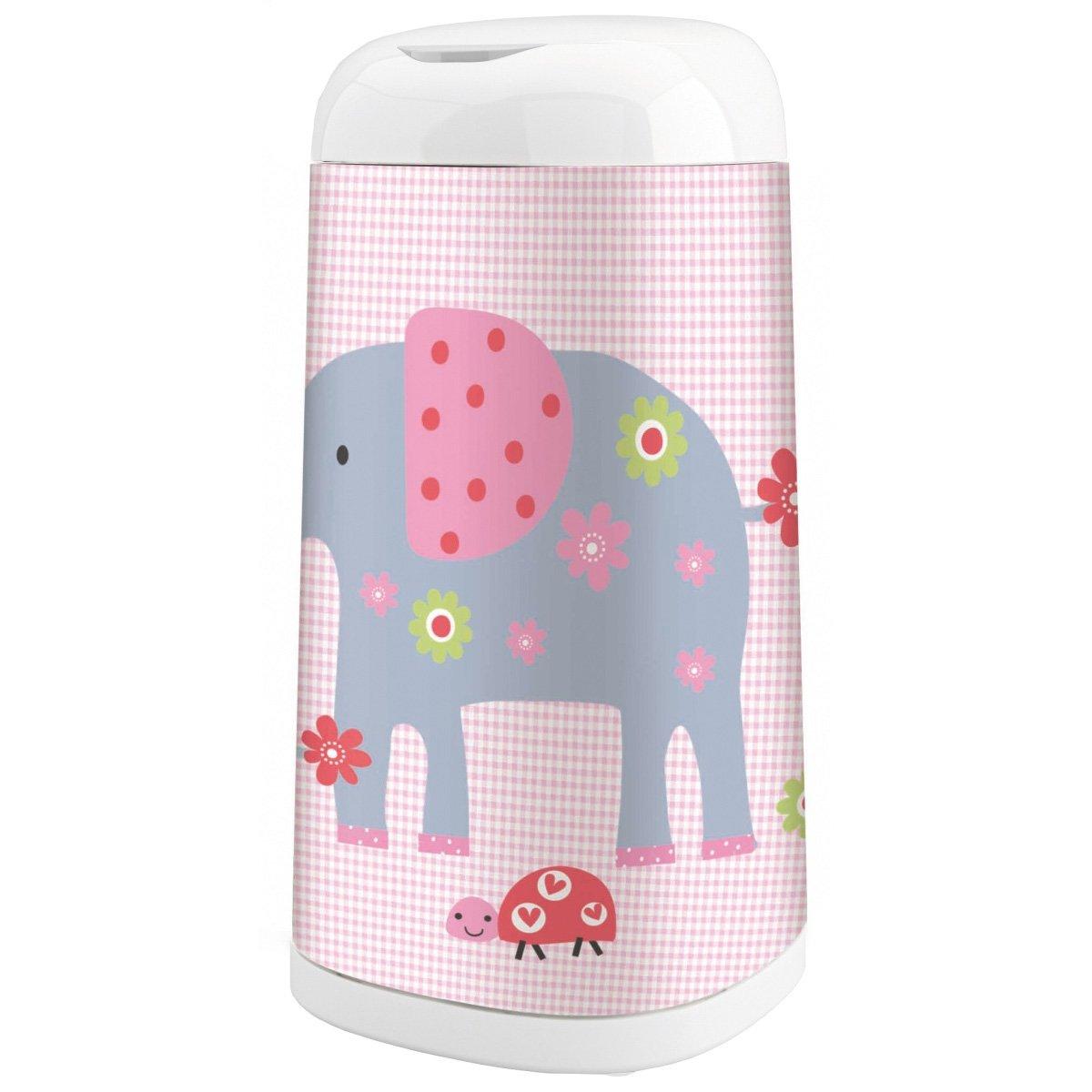 2 Nachf/üllkassette Dress-Up Bezug Elephant Family Angelcare/® Dress-Up Starter-Set Windeleimer