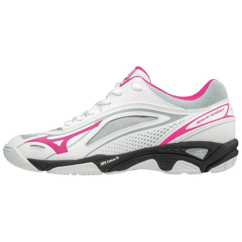 Mizuno Wave Ghost, Zapatillas para Mujer 36.5 EU|Multicolor (White/Pinkglo/Black 001)