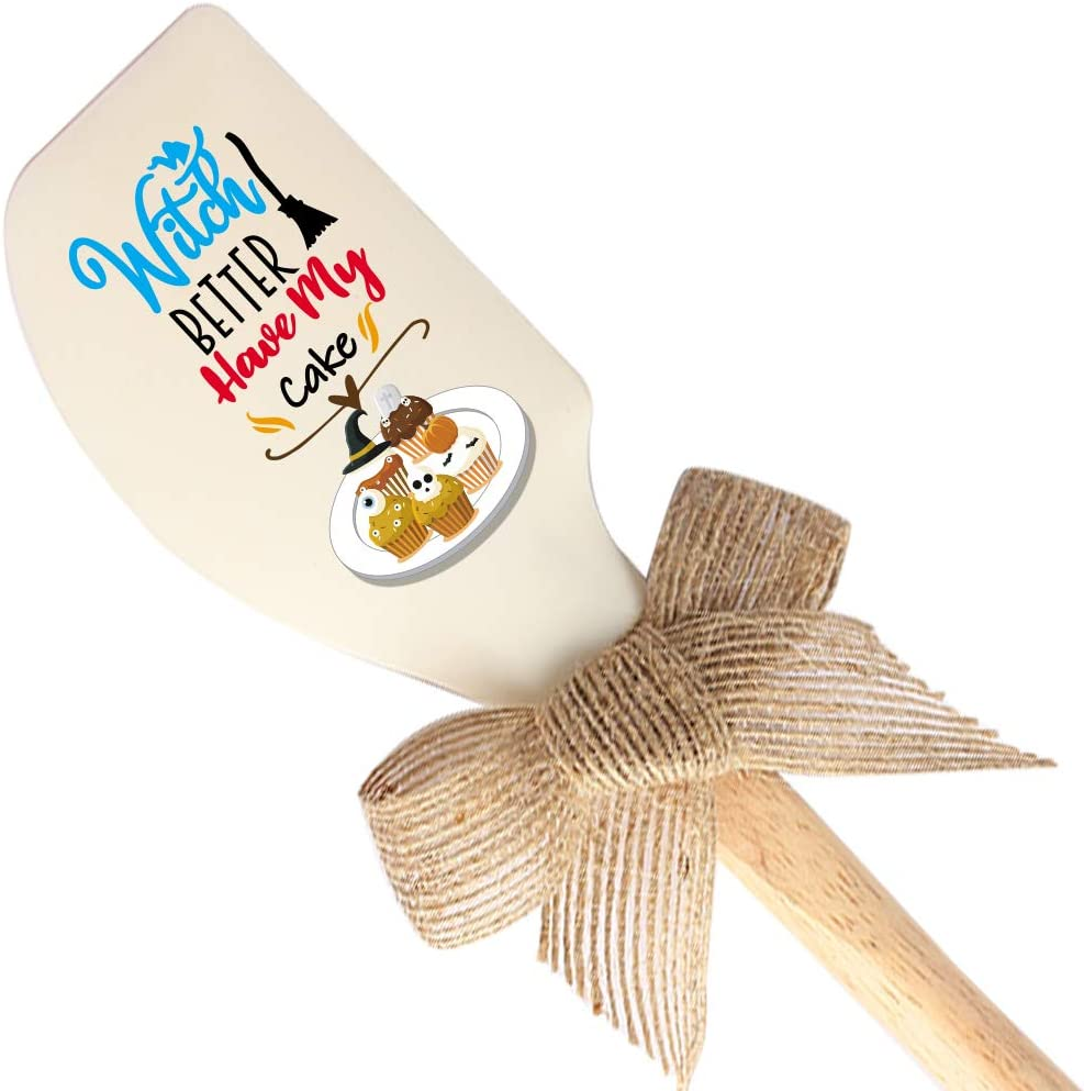 THREE HUMAN Witch Better Have My Cake Funny Silicone Spatula, Funny Baking Tool, Modern Farmhouse Kitchen Decor, Gift for Chef, Bakers, Best Friends, Brother, Sister