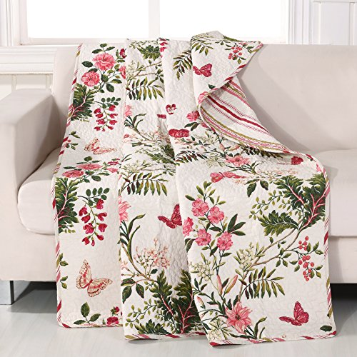 Butterfly Throw - Greenland Home Butterflies Quilted Throw