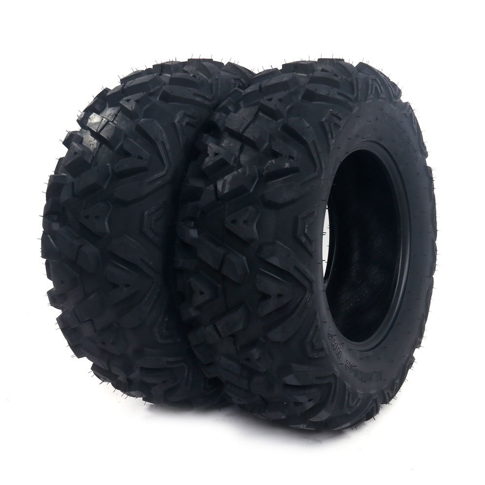 SUNROAD 2PCS Front All Terrain Trailer ATV UTV Tires 25x8-12 25x8x12 6PR