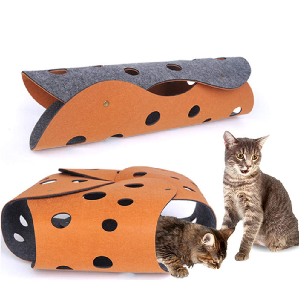 Cat Tunnel,Free Combination Cat Tunnel,Interactive Cat Toy, Cat Tube,Cat Play Mat for Indoor Cats,Durable Felt Cloth for Cat, Puppy, Kitty, Kitten, Rabbit by PJDDP