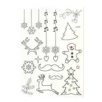 Tinksky Tatuajes Temporales Resplandor Luminosas Copos de Nieve ...