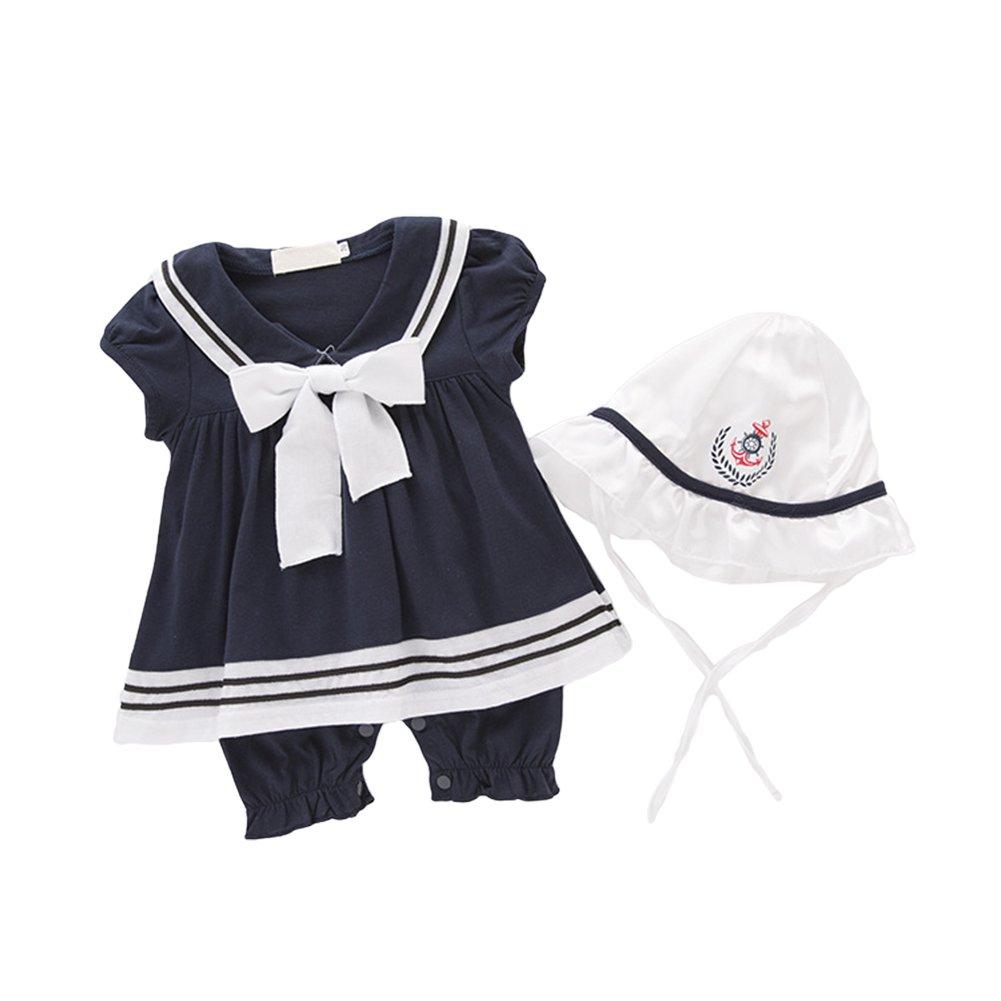 素晴らしい品質 AvaCostume女の赤ちゃんセーラードレススーツロンパース帽子と B01N4IWZIF ブルー 3-6ヶ月 3-6ヶ月 ブルー 3-6ヶ月|ブルー, オオダテシ:790acea2 --- svecha37.ru