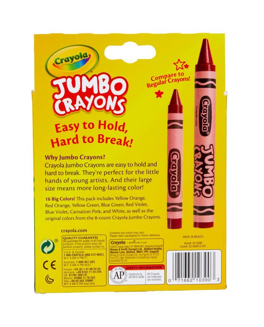 Crayola Jumbo Crayons 16Count, Multicolor by Crayola (Image #6)
