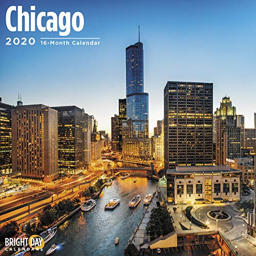 USA Home Towns Wall Calendars by Bright Day Calendars 16 Month Wall Calendar 12 x 12 inches (Chicago 2020)