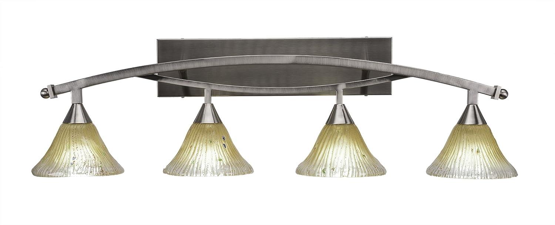 Amazon.com: Toltec iluminación lazo 4 luz baño bar con 7 ...
