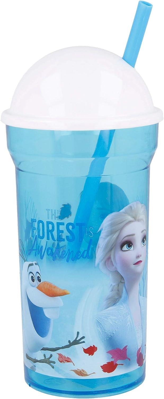 Stor Vaso CA/ÑA Transparente Tapa Alta 460 ML Frozen II Blue Forest
