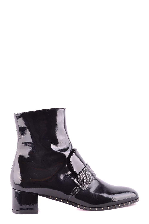 L'Autre Chose Damen MCBI32610 Schwarz Leder Stiefeletten