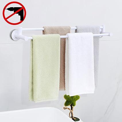 Amazoncom HOOMTAOOK Double Towel Bar Rack Super Power Vacuum