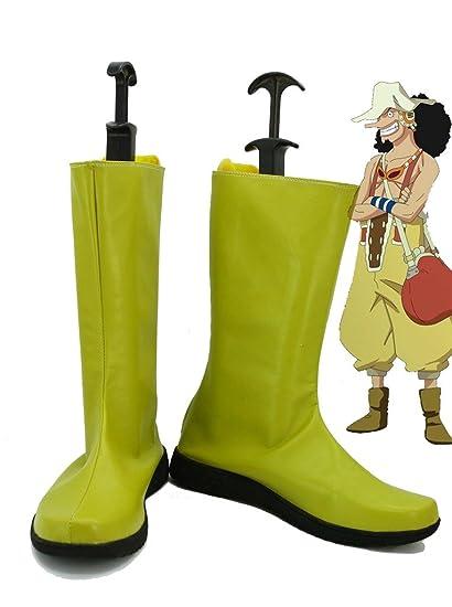 Amazon Com One Piece Anime Usopp Cosplay Shoes Boots Custom Made