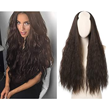 Amazon Sarla 26 Long Yaki Kinky Straight Curly U Shaped Part