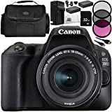 Canon EOS 200D DSLR Camera with EF-S 18-55mm f/4-5.6 IS STM Lens 11 Accessory Bundle – Includes 32GB SD Memory Card + 2x Replacement Batteries + MORE - International Version (No Warranty)