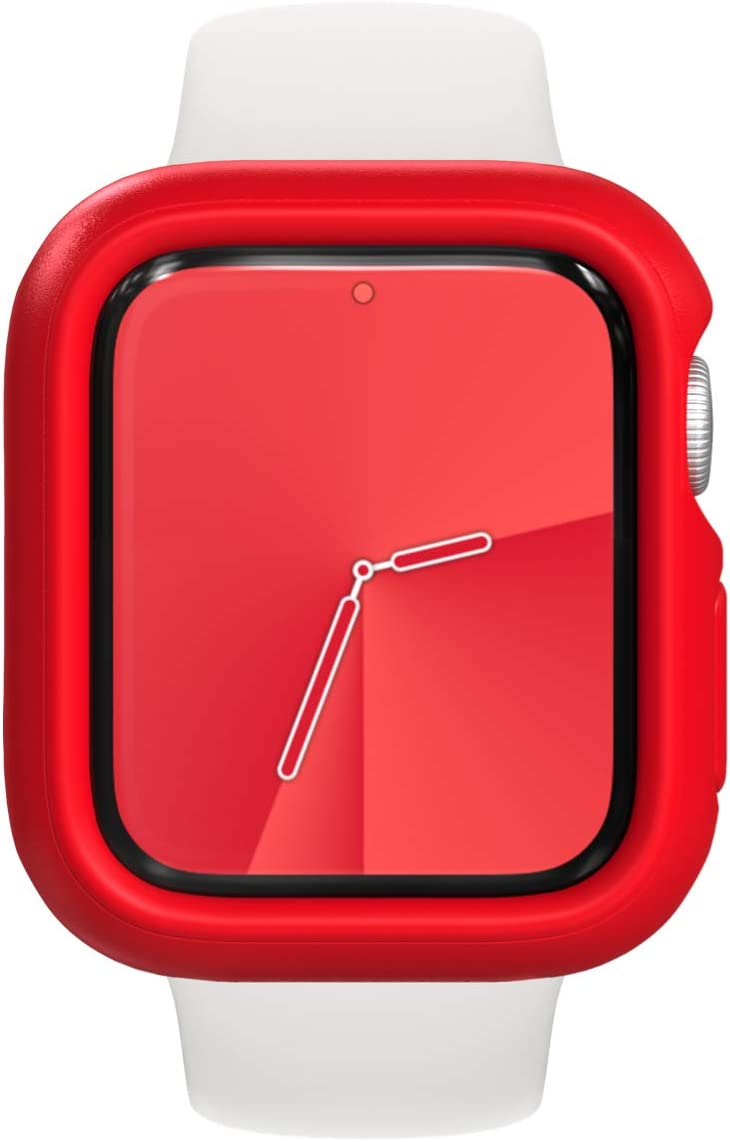 RhinoShield Bumper Case Compatible with Apple Watch SE & Series 6 / 5 / 4 - [44mm] | Slim Protective Cover, Lightweight and Shock Absorbent - Red