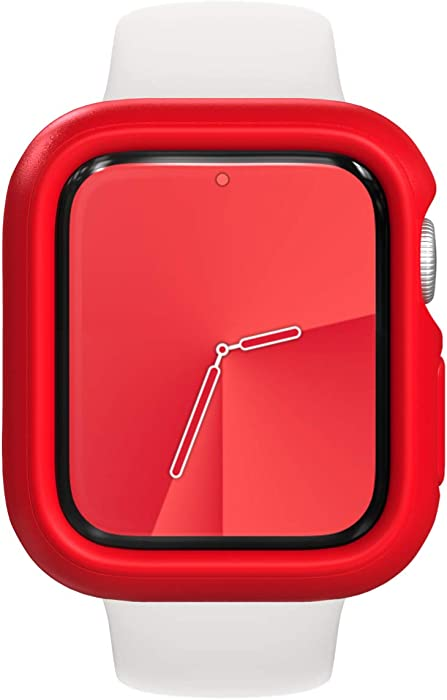 RhinoShield Bumper Case Compatible with Apple Watch Series 3/2 / 1 - [42mm] | Slim Protective Cover, Lightweight and Shock Absorbent - Red