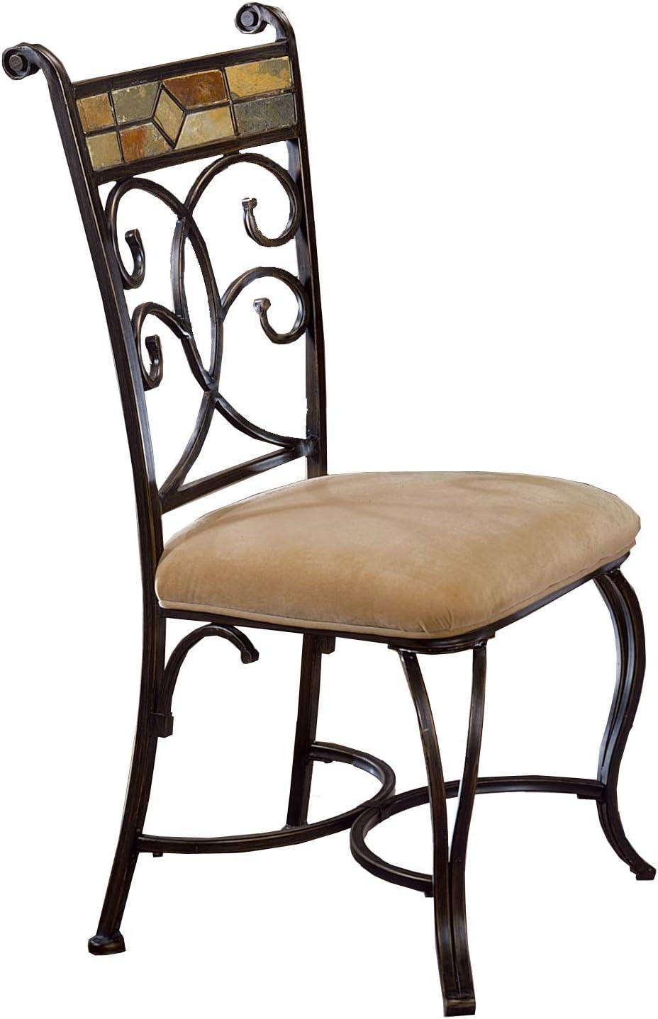 Hillsdale Furniture Dining Chair Set, Black Gold/Slate Mosaic