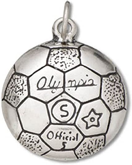 Sterling Silver Girls .8mm Box Chain Soccer Mom Pendant Necklace