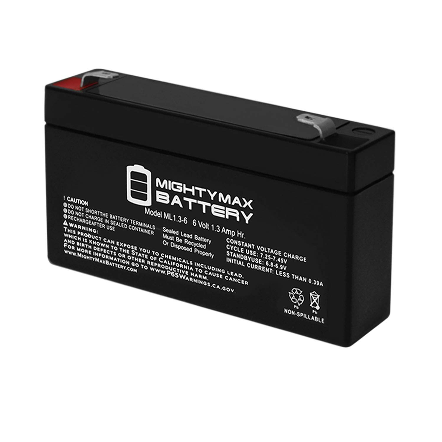 Mighty Max Battery 6V 1.3AH Network Security Systems IPSAI600 Alarm Battery Brand Product