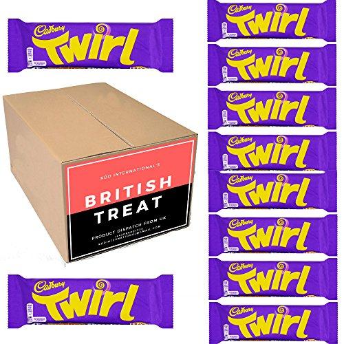 KDD International's Cadbury Chocolates 10 Packs - British Gift - (Twirl 43g) (Twirl Chocolate)