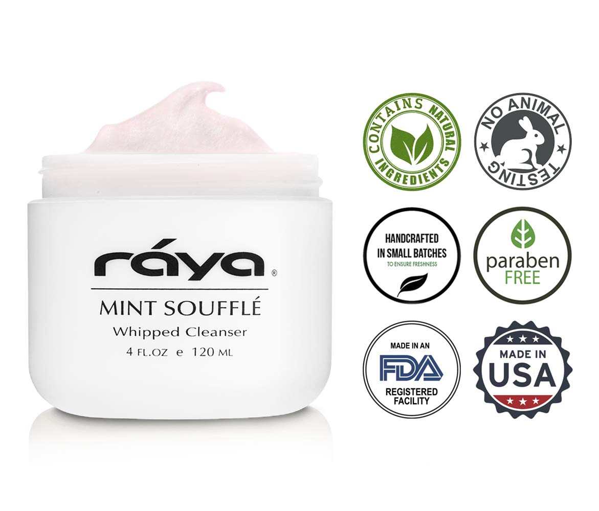 RAYA Mint Soufflé Facial Cleanser 4 oz (102) | pH Balanced Face Wash for Oily and Combination Skin| Helps Clear Clogged Pores and Smooth Complexion by Raya (Image #4)