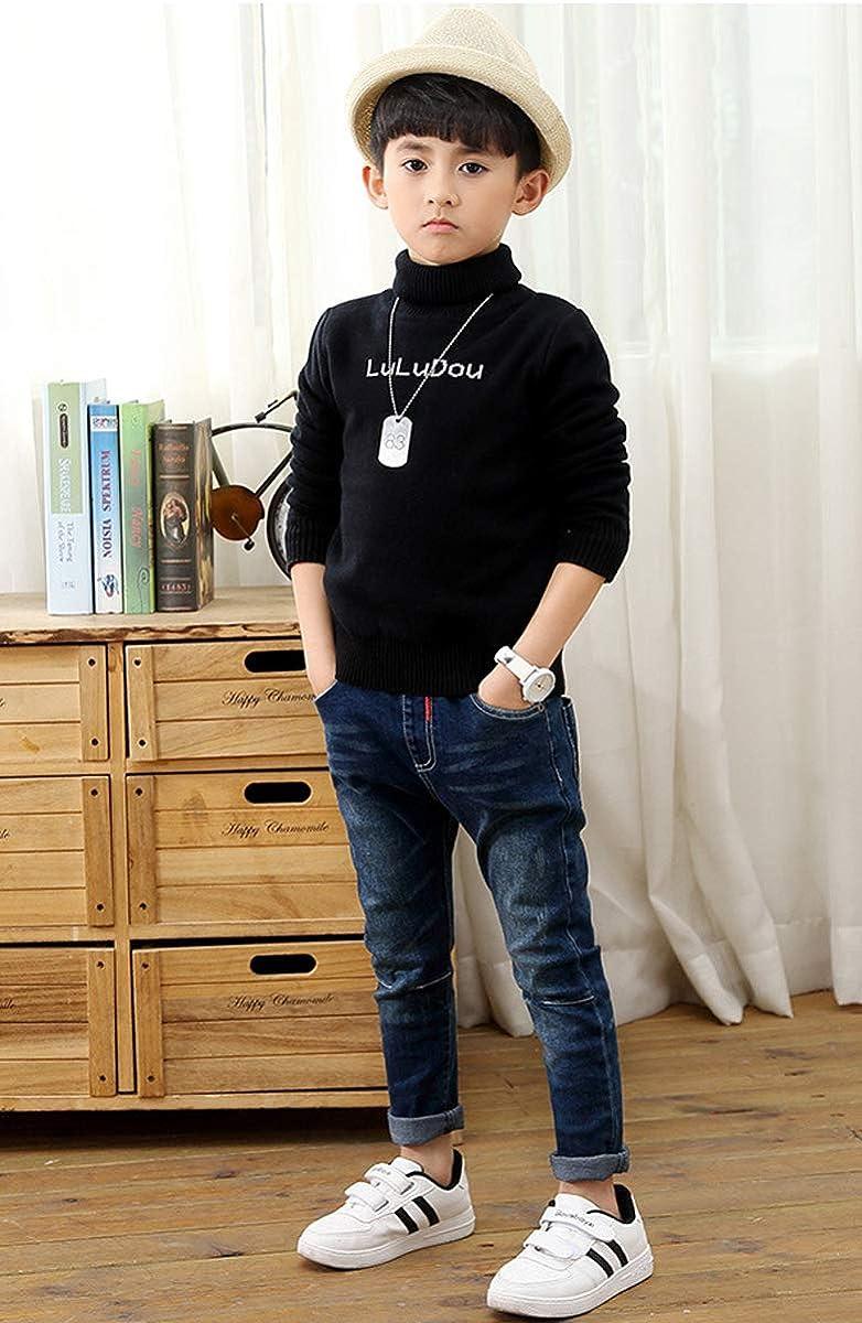 OneBoy Kids Boys Causal Elastic Waist Denim Pants Slim Fit Jeans Age 3-8 Years