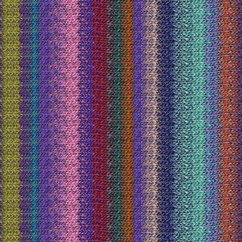 Silk 10 Noro Garden - Noro Silk Garden Lite, 2161 - Purple-Wine-Pea-Brick-Aqua-Rose