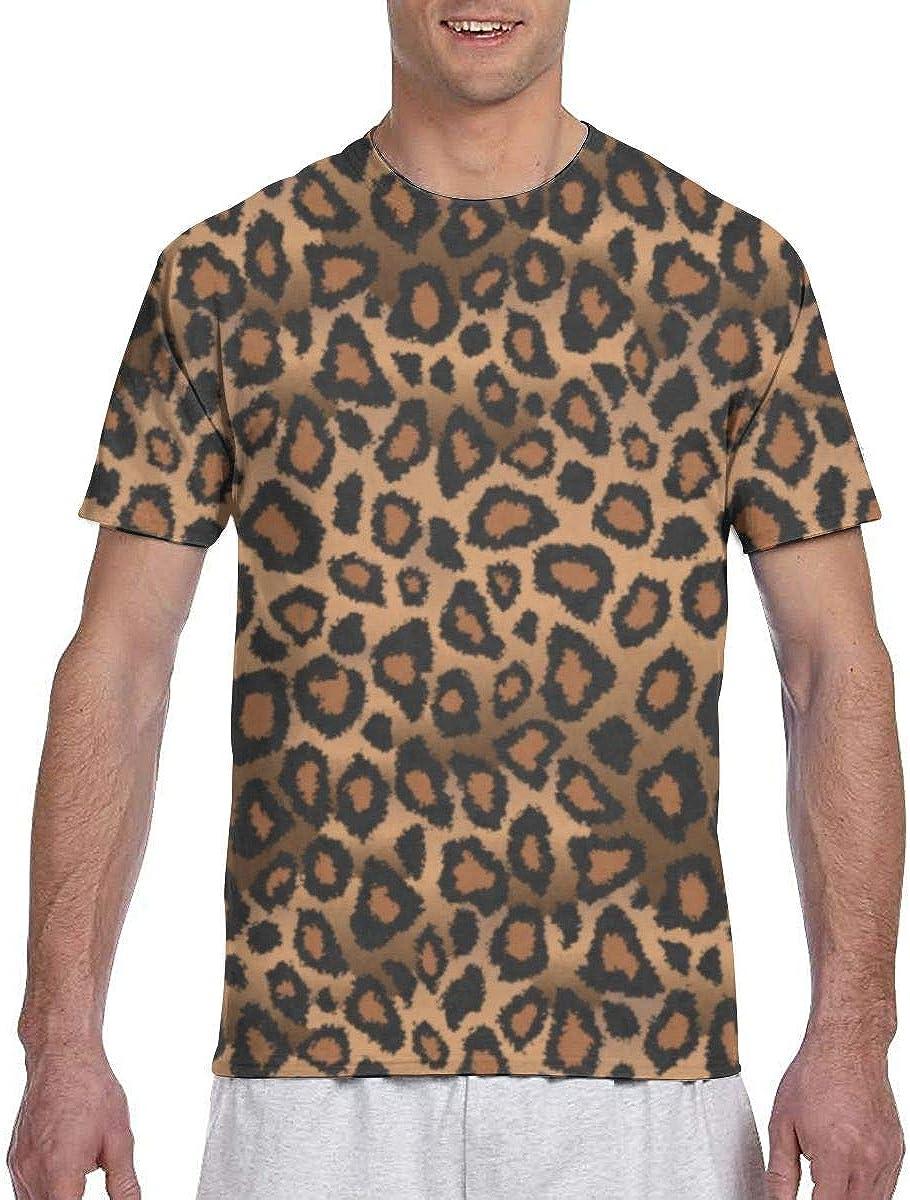 Camisetas para Hombres Camisas con Estampado Animal de Leopardo marrón Camisetas para Hombres Camisetas de Golf de Secado rápido de Verano de Manga Corta: Amazon.es: Ropa y accesorios