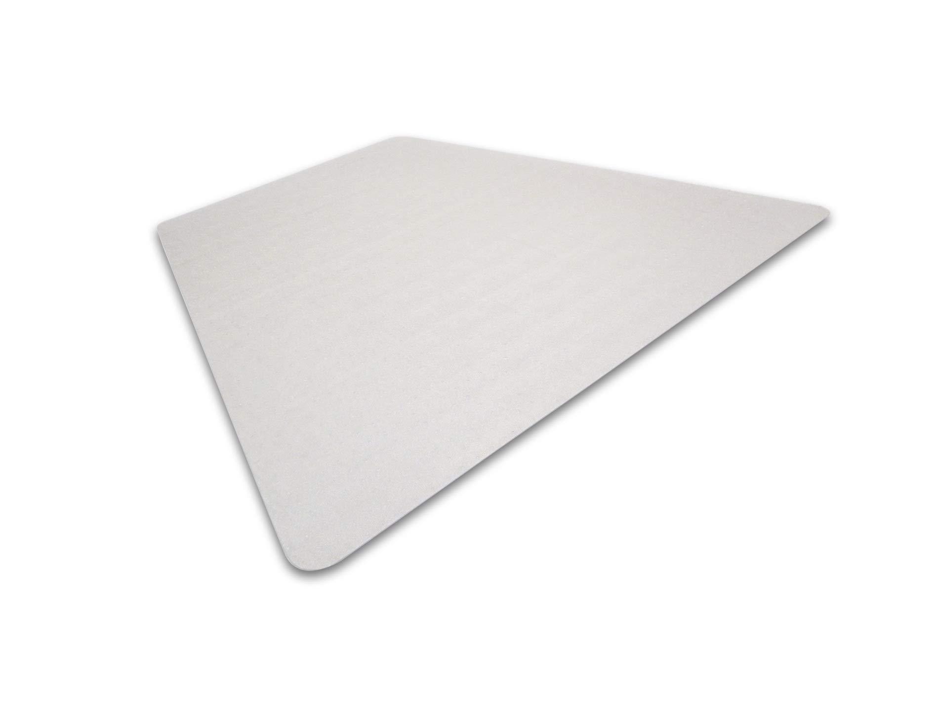 Cleartex Advantagemat, PVC Corner Workstation Chair Mat, for Medium Pile Carpets (3/4'' or Less), Size 48'' x 60'' (FR1115230TR)