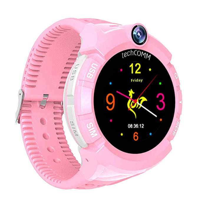 Amazon.com: techcomm S02 GSM desbloqueado Kids SmartWatch ...