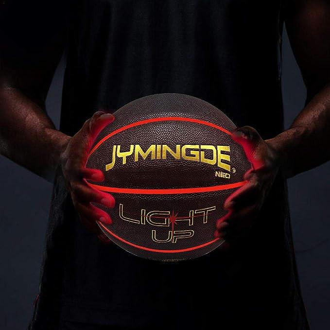 globalqi Baloncesto Iluminado Baloncesto Luminoso Duradero con Dos ...