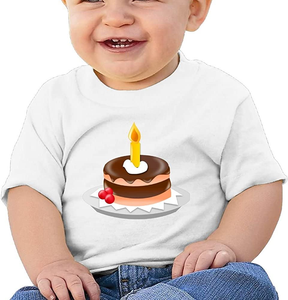 FFWWLHR Small Chocolate Cake Baby Clothing Tops Unisex Fashion Merry Christmas Cotton Baby Toddler Short Sleeve Tees