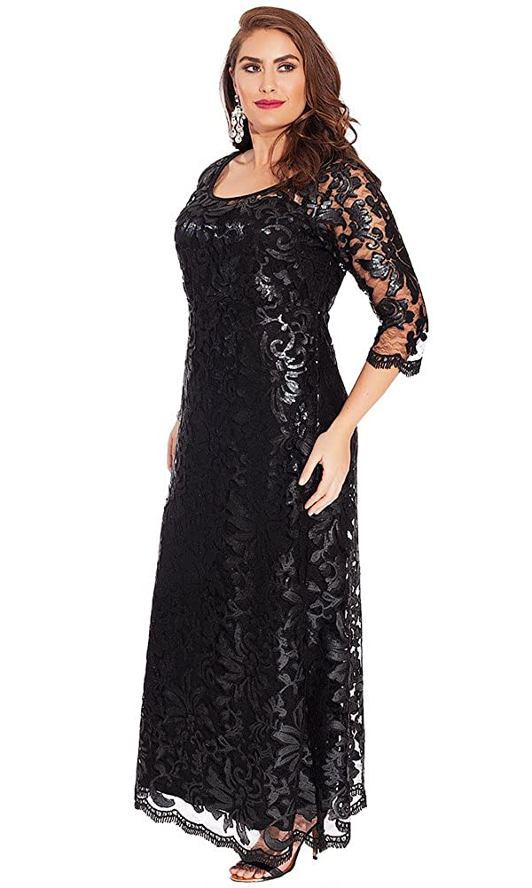 IGIGI Women\'s Plus Size Dolores Gown in Onyx Ombre 12 at ...