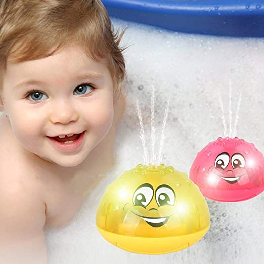 Light Baby Play Bath Toy Water Toys Kapokilly Infant Childrens Electric Induction Sprinkler Toy