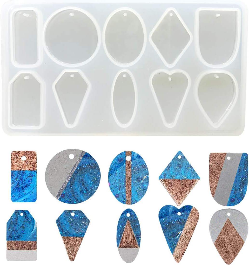 Supvox 3 St/¨/¹ck Kristall Ohrring Anh?nger Silikonform Epoxidharzform f/¨/¹r M/¨/¹nzen Che Fanno Kette Armband DIY Diverse