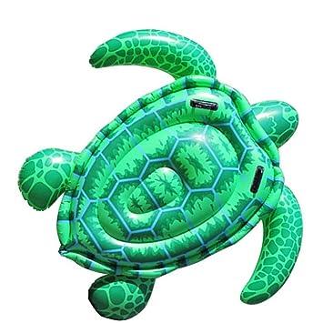 Fila Flotante de la Tortuga Gigante Inflable,Fun Beach Floaties,Swim Party Toys,Tumbona de la Piscina de Verano para Adultos y niños,150 * 127 cm